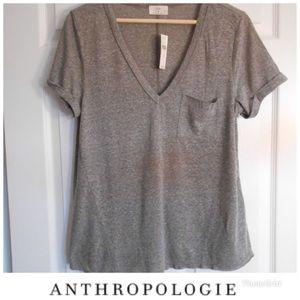 Anthropologie t. la gray knit top Medium